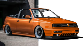slammed vw golf cabrio