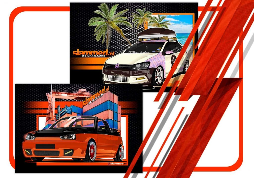 canvas cars